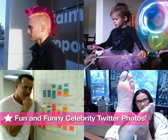 Demi Moore, Tom Hanks, Jared Leto, and Honor Warren in This Week's Fun and Funny Celebrity Twitter Photos!