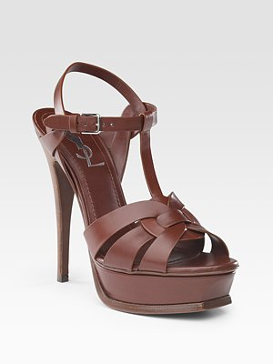 Yves Saint Laurent - Tribute Platform Sandals - Saks.com — $760
