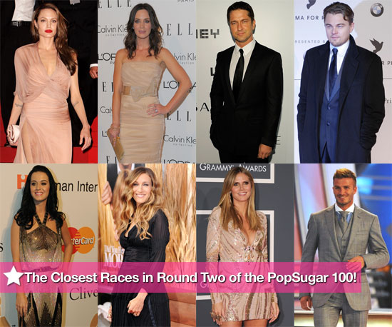 The Closest Races in Round Two of the PopSugar 100!
