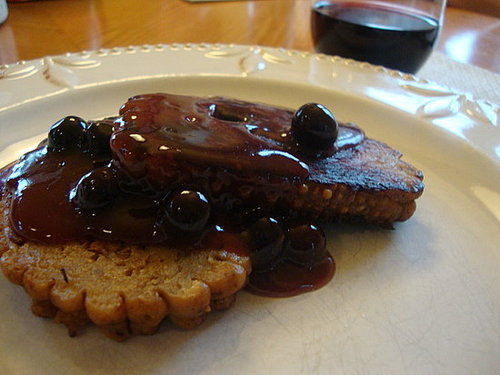 Field Roast with Fresh Blueberry Sauce