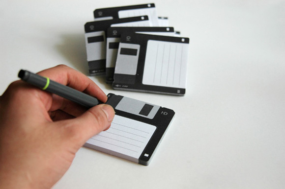 Photos of the Disk-it Sticky Notes