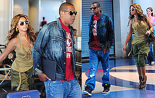 Pictures of Jay-Z and Beyonce Departing LAX After Coachella Music Festival