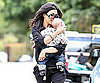 Slide Picture of Kourtney Kardashian Kissing Baby Mason Disick in LA