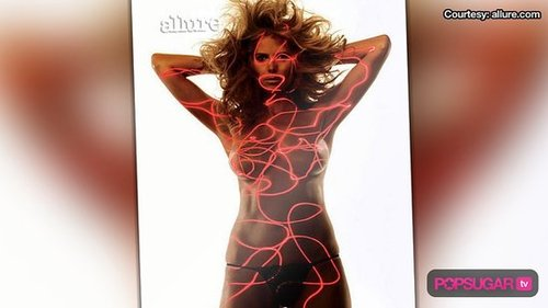 Heidi Klum Topless Photos in Allure Magazine
