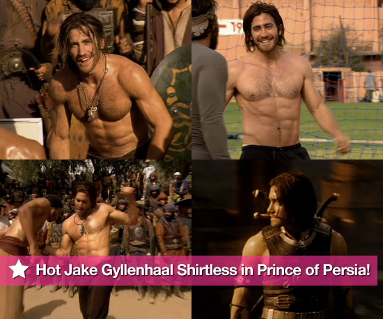 Friday Manjoyment: Hot Shirtless Jake Gyllenhaal in Prince of Persia!