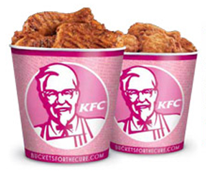 KFC Sells Pink Buckets of Fried Chicken For Breast Cancer Research