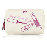 Anya Hindmarch Lips and Eyes Canvas Cosmetics Case (approx $65)