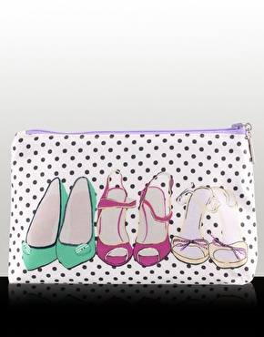 Miss Budd London Handmade Satin Shoes Print Cosmetic Bag (approx $41.70)