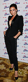Victoria Beckham Wears Her Self-Designed Tuxedo Suit at Charity Event in LA