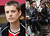 Photos of Agyness Deyn with a Shaved Head and Henry Holland Out at The Grove in Los Angeles