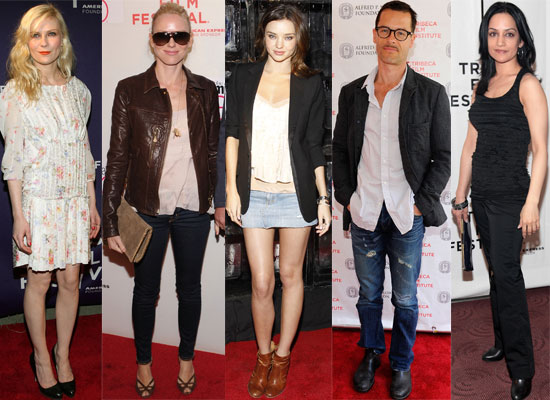 Photos of All the Celebrities at the Tribeca Film Festival 2010 Including Guy Pearce, Kirsten Dunst, Naomi Watts, Miranda Kerr 2010-04-26 21:00:32