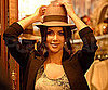 Slide Picture of Kim Kardashian Wearing a Fedora in LA