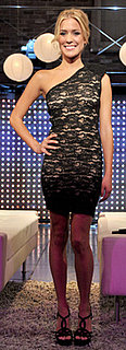 Kristin Cavallari in Asymmetrical Black Lace Dress