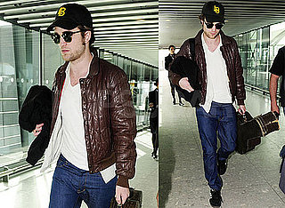 Pictures of Robert Pattinson at Heathrow Airport