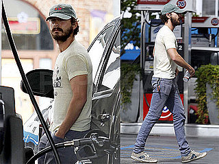 Pictures of Shia LaBeouf Getting Gas For His Truck in LA