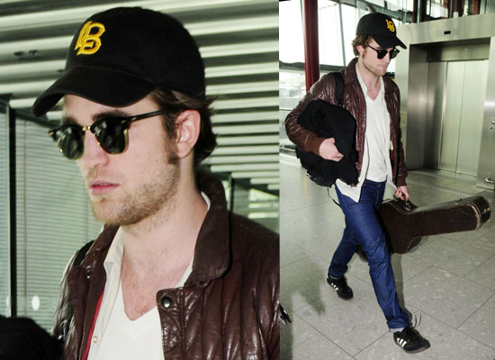Photos of Robert Pattinson at Heathrow