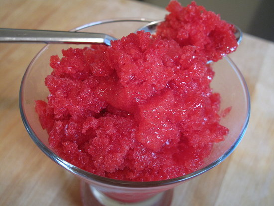 Raspberry Red Currant Granita