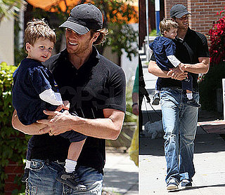 Pictures of Tom Brady With Son Jack in LA Before Returning to Foxboro
