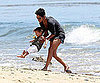 Slide Picture of Halle Berry and Nahla on the Beach in LA