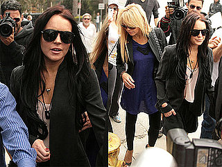Pictures of Lindsay Lohan Arriving at DUI Deposition in LA