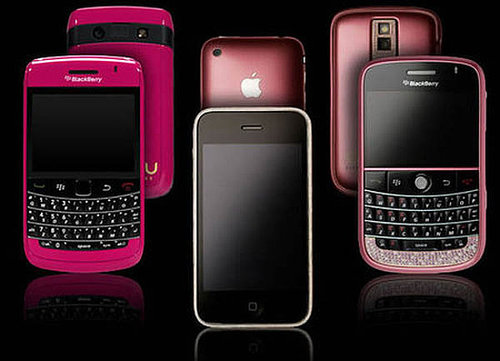 Pink Diamond Studded Cellphone For Your Love