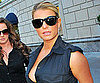 Slide Picture of Jessica Simpson Wearing a Low Cut Top in NYC