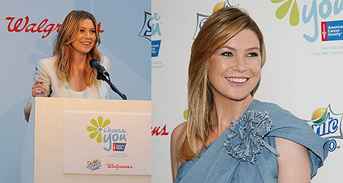 Pictures of Ellen Pompeo at Choose You American Cancer Society Event