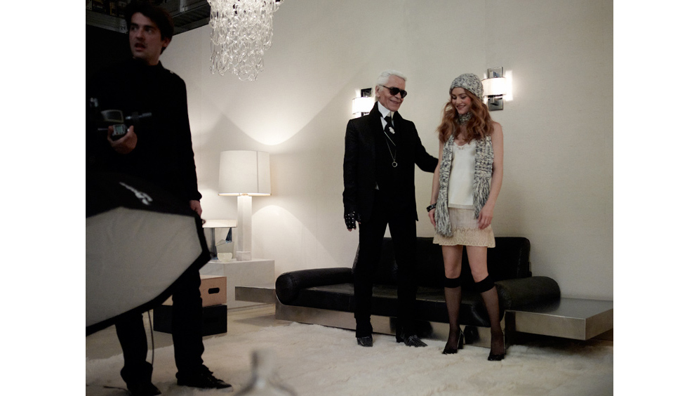 Karl Lagerfeld, Vanessa Paradis Continue Mutual Love Fest with New Chanel Coco Cocoon Ads