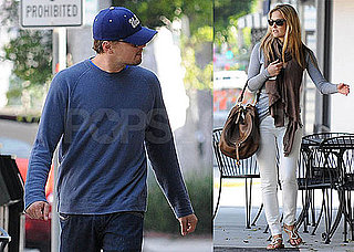 Pictures of Leonardo DiCaprio and Bar Refaeli Shopping For a Pool Table in LA