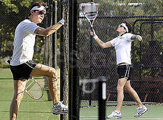 Pictures of John Mayer Showing Lots of Leg While Playing Tennis in Sydney