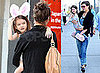 Pictures of Suri Cruise Wearing Pig Slippers With Katie Holmes in New York City