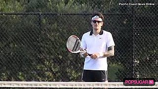 New Video of John Mayer Playing Tennis in Shorts