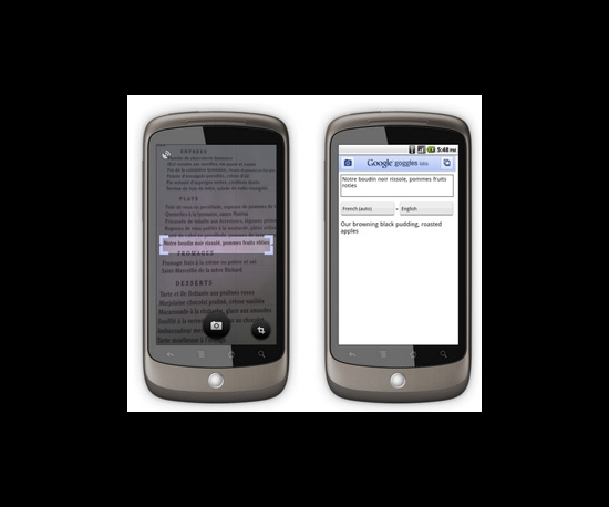 Google Goggles 1.1 Released