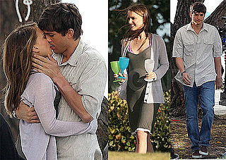 Pictures of Natalie Portman and Ashton Kutcher Kissing on the Set of Their New Movie