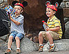 Slide Picture of Sean Preston and Jayden James at Disneyland