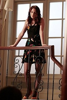 Blair Waldorf Wears Marc Jacobs Bird Print Dress on Gossip Girl