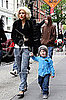 Christina Aguilera Out with Husband and Son