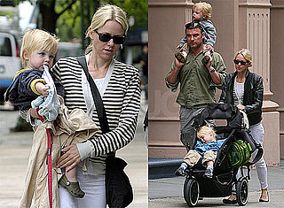 Pictures of Naomi Watts With Liev Schreiber and Their Children Samuel and Sasha