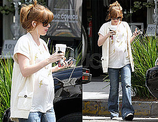 Pictures of Pregnant Isla Fisher Getting Coffee in LA