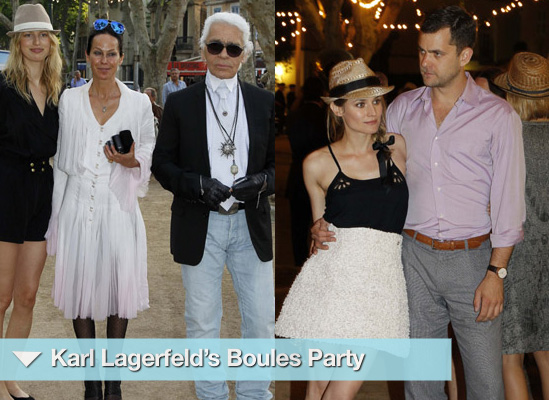 Photos from Karl Lagerfeld's Film Presentation Party in St Tropez