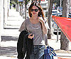 Slide Picture of Rachel Bilson Shopping in a Gray Top in LA