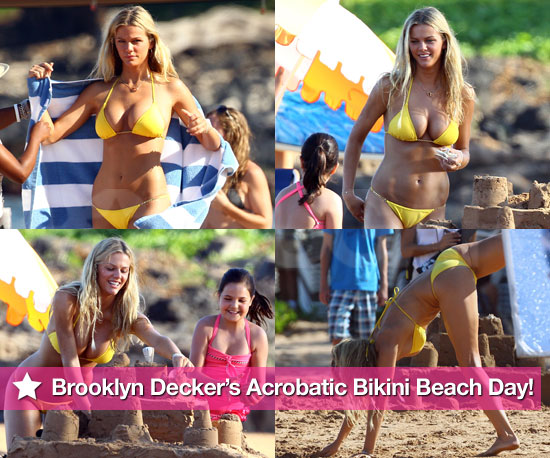 Brooklyn Decker's Acrobatic Bikini Beach Day!