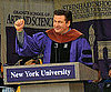 Slide Picture of Alex Baldwin Giving Speech at NYC Graduation