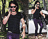 Photos of Russell Brand in Purple Jeans in LA