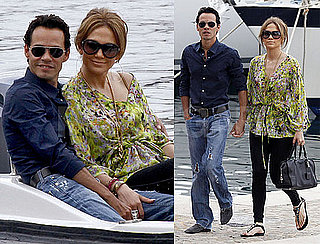 Pictures of Jennifer Lopez and Marc Anthony Going to Robert Cavalli's Yacht in Nice