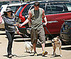 Slide Picture of Jenna Dewan and Channing Tatum Walking Dogs