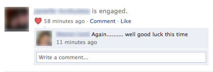 Passive-Aggressive Facebook Comment