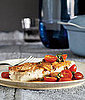 Halibut With Tomatoes and Capers Recipe