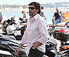 Slide Picture of Javier Bardem Having Lunch in Cannes