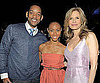 Slide Picture of Will Smith, Jada Pinkett Smith and Kyra Sedgwick at a TBS Party in NYC